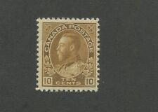 King George V 1925 Canada 10c Brown Postage Stamp #118 Value $95