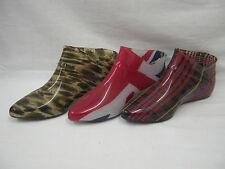 "Women's Flat (less than 0.5"") Slip on Wellington Boots Shoes"