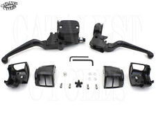Black Hand Controls for Harley Big Twin & Sportster Black Switch Housings