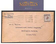 MS2037 1929 GB Leics UPU COMMERCIAL MAIL Cover *International Postal Congress*