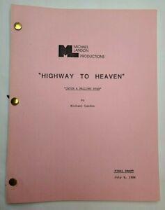"HIGHWAY TO HEAVEN / Michael Landon 1984 TV Script ""Catch a Falling Star"""