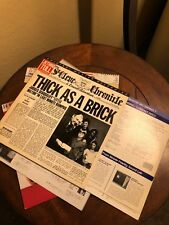 ULTRASONIC CLEANED JETHRO TULL THICK AS A BRICK MFSL 1-187 LP EX GATE FOLD