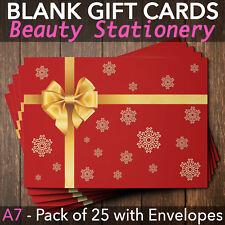 Christmas Gift Vouchers Blank Beauty Salon Card Nail Massage x25 A7+Envelope RG