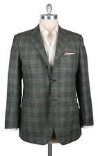 New $7200 Kiton Brown Cashmere Window Pane Sportcoat - 45/55 - (201803056)