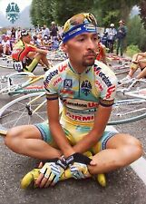 Marco Pantani on Strike A4 poster new Campagnolo Super Record Colnago Bianchi