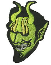 Green Devil Evil Appliques Embroidery Iron on Patches 3''