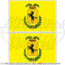 Naples la provence drapeau italie vinyle autocollants sticker 75mm x2