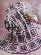 Crochet Pattern ~ ENCHANTED GARDEN QUILT AFGHAN ~ Instructions