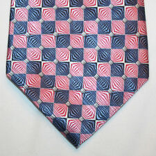 NEW Croft & Barrow Silk Neck Tie Pink and Blue Plaids 1115