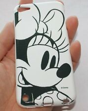 iPod Touch 5th 6th 7th Gen -RUBBER SILICONE CASE COVER DISNEY BLACK WHITE MINNIE
