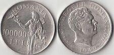 PESO 25.18 GRAMMI AG.  CONSERVAZIONE BUONA  Romania 100000 Lei 1946 Argento #247