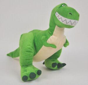 "REX Toy STORY Plush DOLL Figure DISNEY Collections GREEN T-Rex Dinosaur 13"" Sewn"
