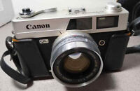 Canon Canonet QL17 35mm Lens 45mm F1.7 /w Case, Rangefinder, Strap Used Japan