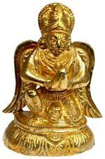 "Brass Garuda Statue 3.6"" Garuda the Carrier of Lord Vishnu (KK59)"