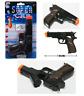 BLACK CAP GUN PISTOL REVOLVER DETECTIVE POLICE COWBOY TOY COLT 45