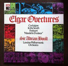 ASD 2822 Sir Adrain Boult / LSO - Elgar Overtures, RARE HMV FIRST LABEL