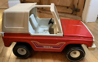 Tonka Bronco Jeep Vintage Large Red Steel 1970's Model 835TR Made In USA