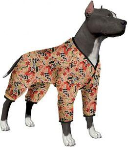 LovinPet Pitbull Pajamas/Lightweight Pullover Pajamas/Folk Horse Coral Prints