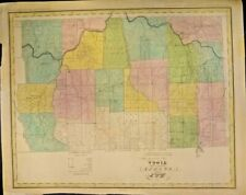 EXTREMELY RARE MAP OF THE COUNTY OF TIOGA 1829 NEW YORK VERMONT GENUINE FRAMEABL