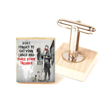 Banksy Cufflinks Punk Son Graffiti Art Banksy Inspired Cufflinks handmade in uk