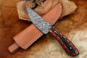 """8""""MH KNIVES CUSTOM HANDMADE DAMASCUS STEEL FULL TANG HUNTING/SKINNER KNIFE D-04T"""