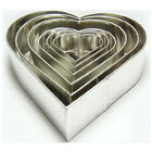 SET OF 6-PIECE HEART SHAPE CAKE BAKING PANS BY EURO TINS 6