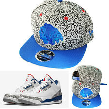 New Era NHL Chicago Blackhawks Snapback Hat Air Jordan 3 Blue Grey elephant Cap