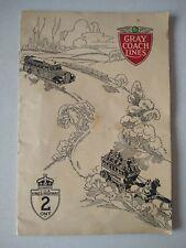 1932 Vintage Grey Coach Lines Bus Motor Coach Routes, Canada