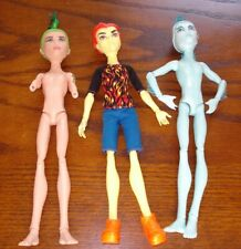 Mattel Monster High Mansters Gil Webber & Deuce + Heath Burns Boys Men dolls