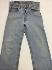 Levi's 501 Blue Denim Jeans Size 33 X 31 Old Faded Torn Stained      N1b