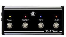 Peavey 6505 (Mini Head Only) Custom 4 Button Footswitch (Jacks)- Rock Blocks