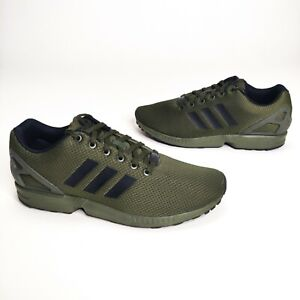 Adidas Torsion ZX Flux Gym Trainers Running Shoes Army Green Size 11.5 Men's NEW