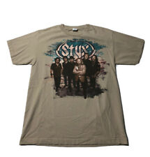 Styx- Band Photo Tour Shirt Brown T-Shirt- Medium