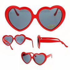 SA106 Womens Classic Red Heart Shape Valentine Sunglasses