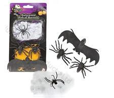 Arañas & Murciélagos con Araña En Web Fiesta Halloween Truco o trato decoración