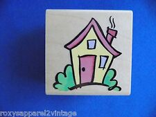 Ma Maison House Wood Mounted Rubber Stamp Gently Used 1999 Stampendous F073