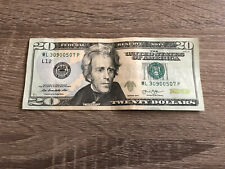 2013 Series US $20 Dollar Bill 30-90-05-07 Fancy Serial Number, XF/EF Condition