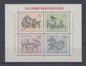 Berlín Bloque 2 Monos Pájaro Zebra Etc. (MNH)