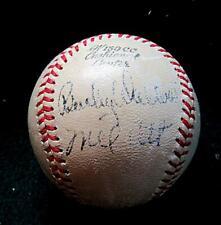 MEL OTT NY GIANTS MLB 1926-'47 & OTHERS SIGNED BASEBALL