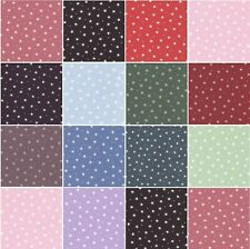 100% Cotton Poplin Small Stars Craft Dress Fabric Material All Colour 112cm wide