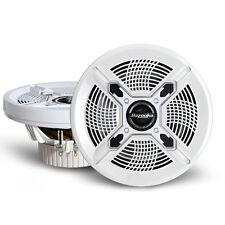 """Bazooka MAC8100W 8"""" White Marine Coaxial Speakers"""