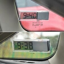 Car Dashboard Windshield Electronic Mini LCD Display Digital Auto Clock w Sucker