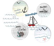 24 runde Aufkleber 40 mm / Sticker / maritim / Meer / ahoi / Anker / Hafen
