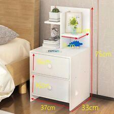 Bedroom 2 Drawer + Shelf  Nightstand Bedside Table Cabinet Storage Furniture UK