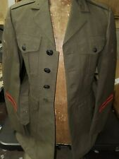 Vietnam War Us Marine Corps Coat, Man's Wool Serge Green with Belt