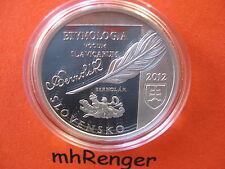 SLOWAKEI 2012 10 EURO SILBER PP PROOF - ANTON BERNOLAK - ERSTAUSGABE - nur 1500!