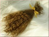 LIGHT BROWN PREMIUM MOHAIR SOFT AND SILKY FOR REBORN BABY DOLL