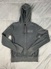 Victoria's Secret PINK Full-Zip Sequin Hoodie Sweatshirt Size XS Grey