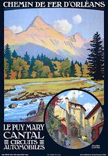 Affiche chemin de fer Orléans - Le Puy Mary Cantal