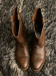 Red Wing Shoes Pecos Light Brown Leather Western Boots Men's Size 9 Women's 11